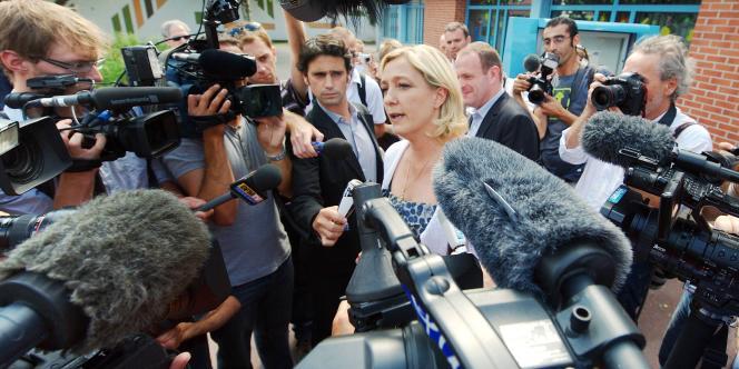 Marine Le Pen, le 5 juillet, à Hénin Beaumont.