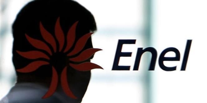 Le logo d'Enel, la société nationale d'électricité italienne.