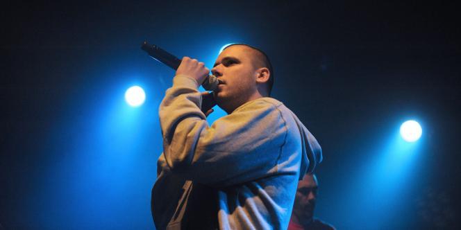 Le rappeur Orelsan, lors du Printemps de Bourges, en avril 2009.