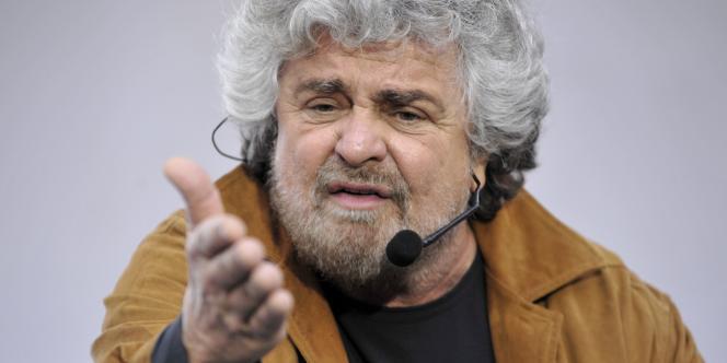 Le comique italien Beppe Grillo, le 15 mars 2008 à Rome.