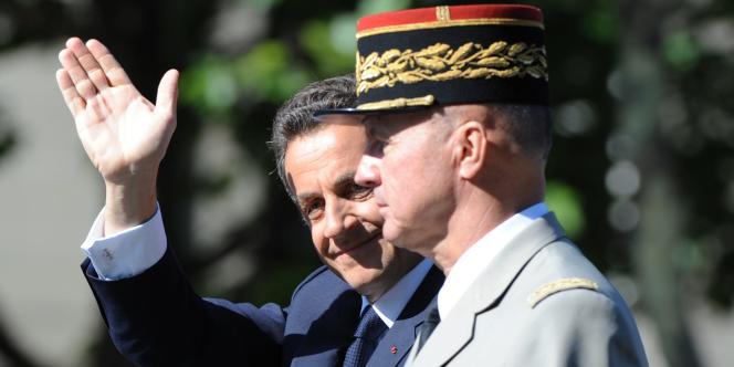 Nicolas Sarkozy et Jean-Louis Georgelin, le 14 juillet 2009.