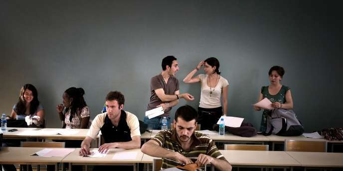 Etudiants à l'université de Lyon, en 2009.