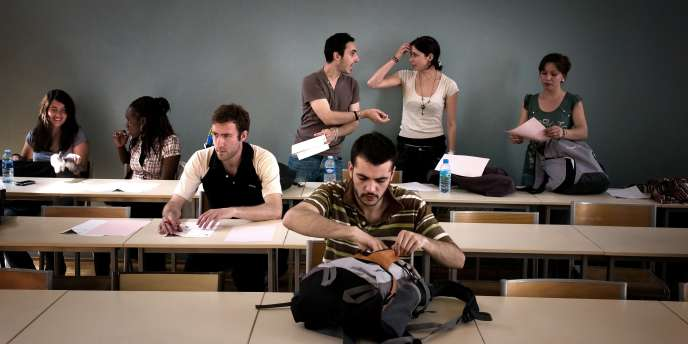 Une salle de classe à l'université Lyon 2, en mai 2009.