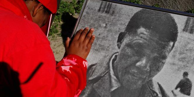 Nelson Mandela, premier président noir sud-africain.