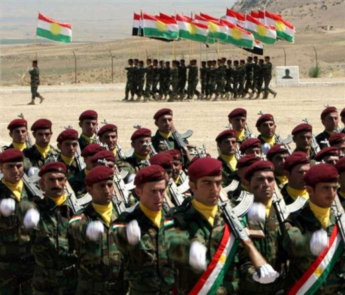 La force armée de la région autonome du Kurdistan irakien, les Peshmergas.