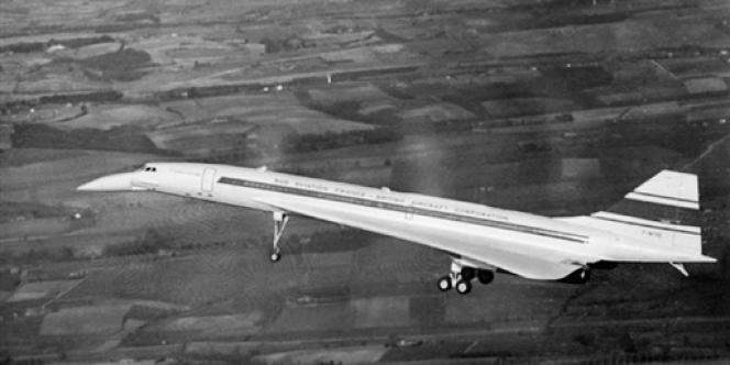 Le Concorde lors de son premier vol, le 2 mars 1969.