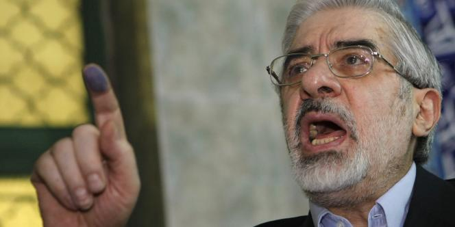 L'ancien candidat de l'opposition Mir Hossein Moussavi, en juin 2009.