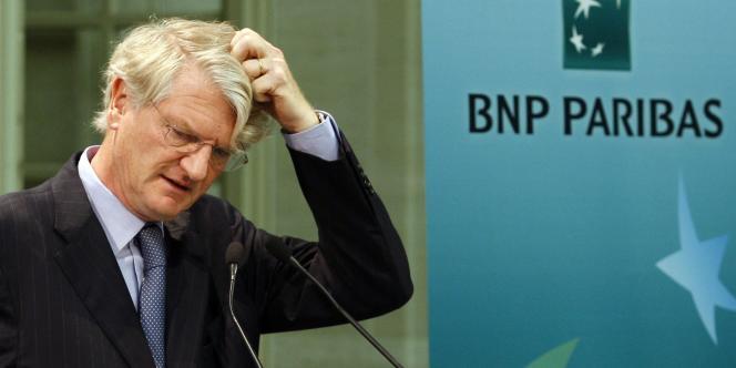 Le patron de BNP Paribas, Baudouin Prot, à Paris en août 2009.