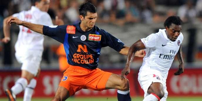 Emir Spahic contre le PSG le 8 août 2009.
