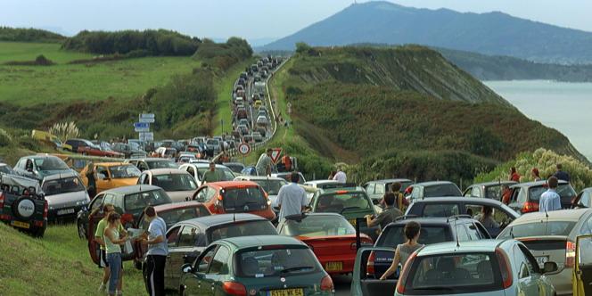 Embouteillage sur la côte