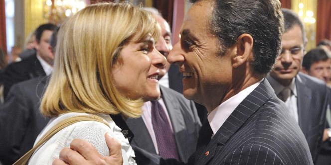Anne Lauvergeon et Nicolas Sarkozy, en juillet 2009.