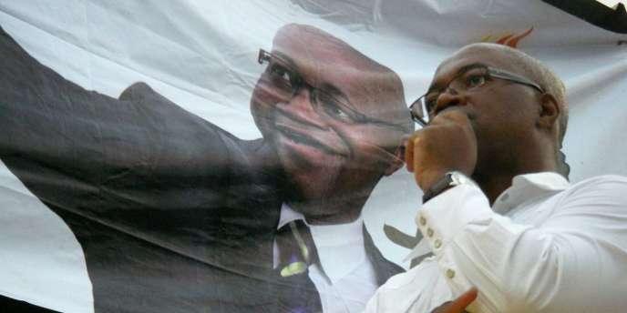 André Mba Obamé à Maboukou, le 25 août 2009.