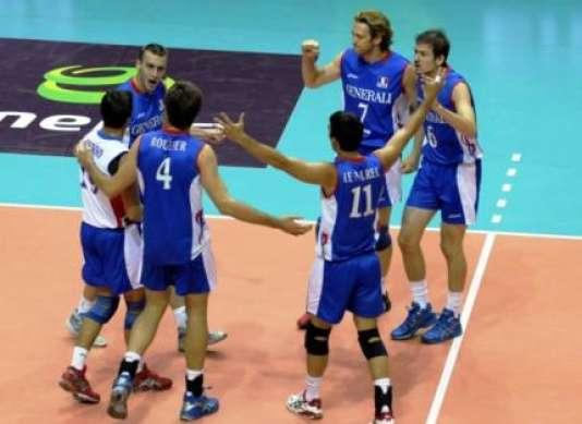 L'équipe de France de volley-ball.