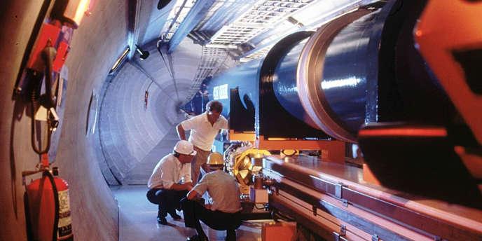 Le Grand collisionneur de Hadron (LHC) au CERN à Genève.