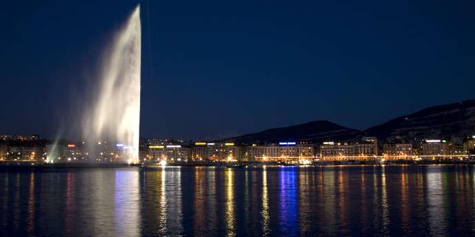 Vue du lac Léman à Genève.