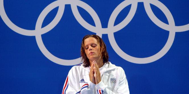 Laure Manaudou, en 2004 à Athènes.