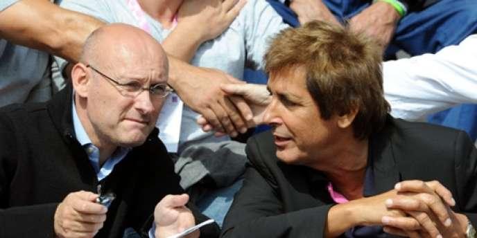 Bernard Laporte et Max Guazzini, deux figures historiques du Stade français.