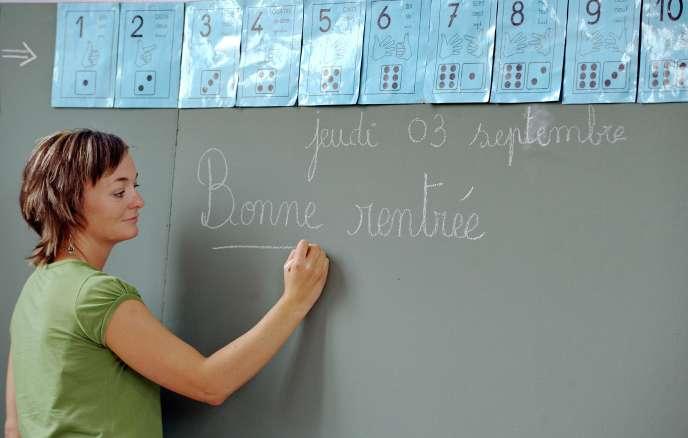 Dans une école à la rentrée 2009.