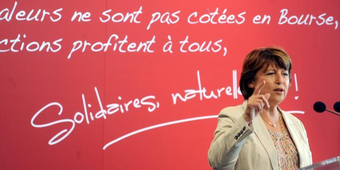 La première secrétaire du Parti socialiste, Martine Aubry, a clos le séminaire des parlementaires socialistes à Toulouse, en appelant les militants à se