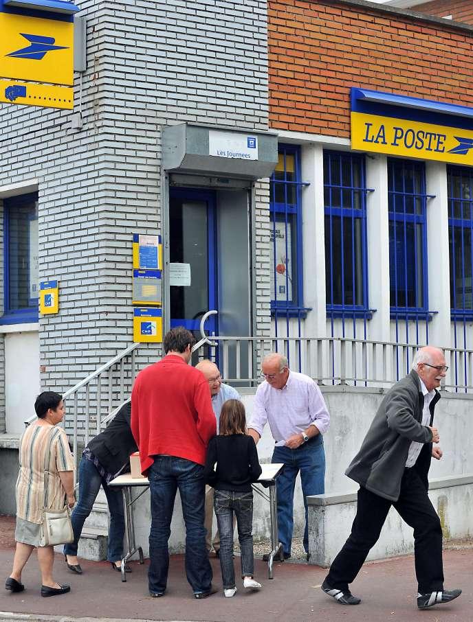 Un bureau de poste à Tourcoing en septembre2009.
