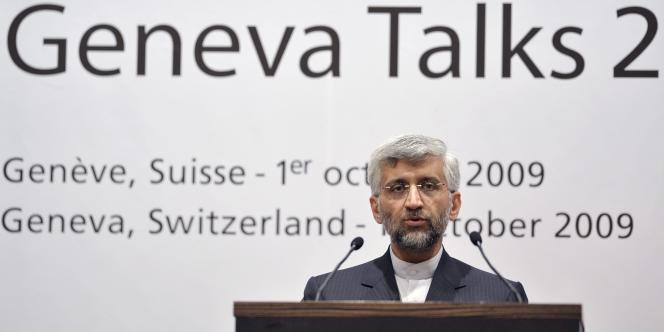 Saïd Jalili, le principal négociateur iranien du dossier nucléaire, lors de la rencontre entre le groupe des 5+1 et l'Iran à Genève.