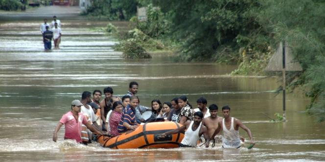 Inondations meurtrières en Inde, en octobre 2009.