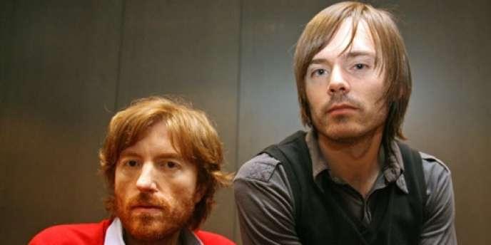 Nicolas Godin (à gauche) et Jean-Benoît Dunckel forment le duo Air, ici en janvier 2007.