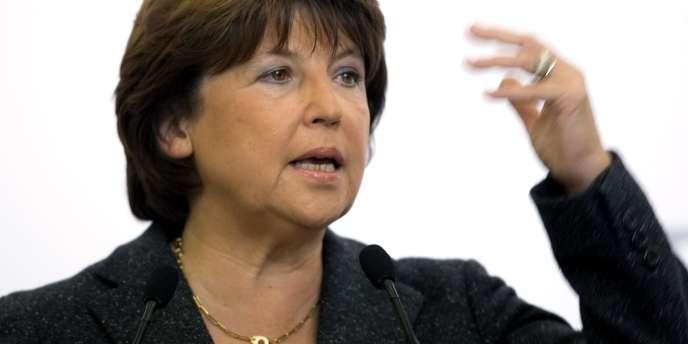 Martine Aubry, première secrétaire du PS.
