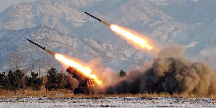 Tirs de missiles en Corée du Nord en janvier 2009.
