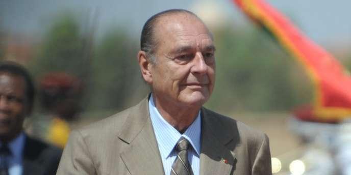 Jacques Chirac à Ouagadougou, le 11 octobre 2009.