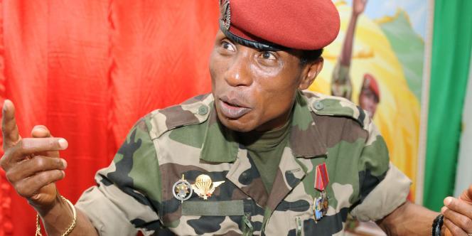 Moussa Dadis Camara, le 30 septembre 2009, à Conakry.