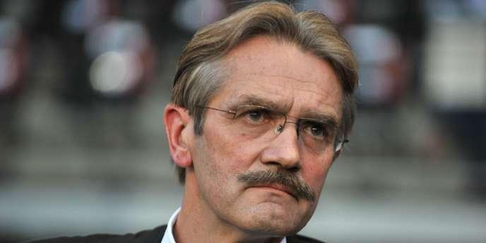 Frédéric Thiriez, président de la Ligue de football professionnel, le 9 août à Rennes.