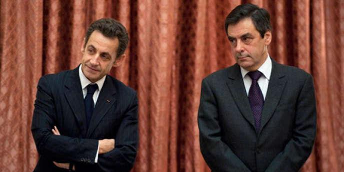 Nicolas Sarkozy et le premier ministre François Fillon, qui a annoncé, mercredi 24 août, un plan de réduction des déficits.