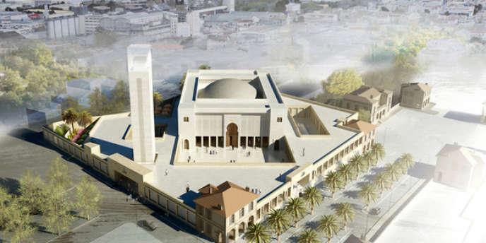 La grande mosquée devait voir le jour dans le 15e arrondissement de Marseille, pour un budget de 22 millions d'euros.