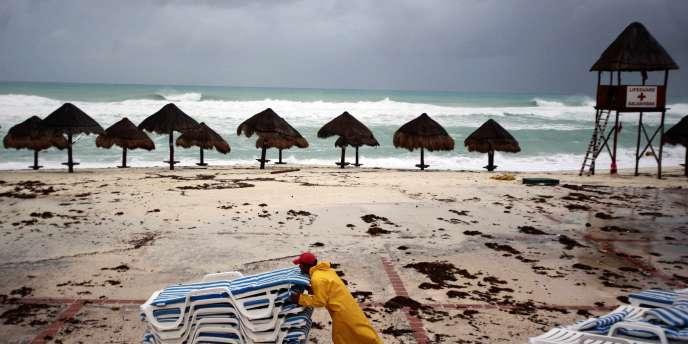 Région de la station balnéaire de Cancun, au Mexique.