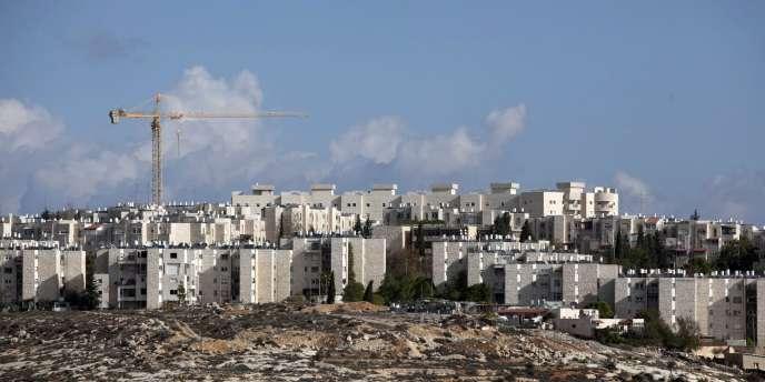 Le quartier de colonisation de Gilo, à proximité de la ville palestinienne de Bethléem, en Cisjordanie.