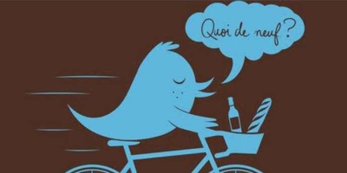 Le logo français de Twitter.