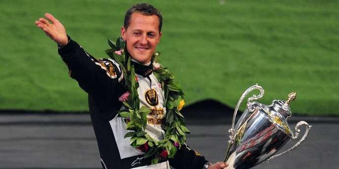 Michael Schumacher, le 4 novembre 2009 à Pékin lors d'une course exhibition.