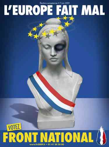 Affiche du FN pour les élections européennes.