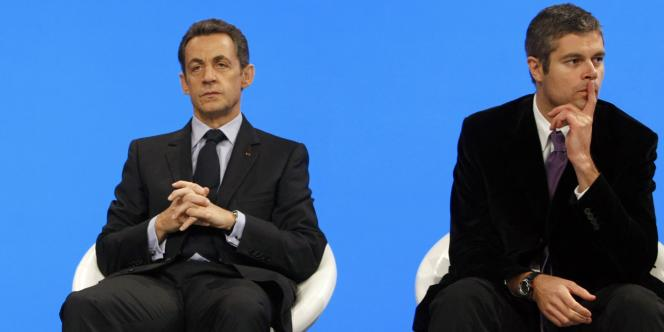 Nicolas Sarkozy et Laurent Wauquiez en novembre 2009.