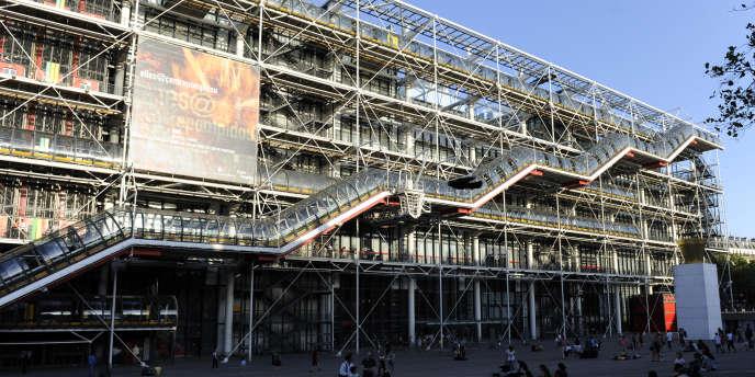 Vue du Centre Pompidou, à Paris, en août 2009.