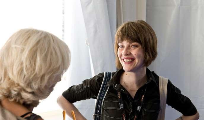 La réalisatrice et scénariste Axelle Ropert à la Quinzaine des réalisateurs en mai 2009.