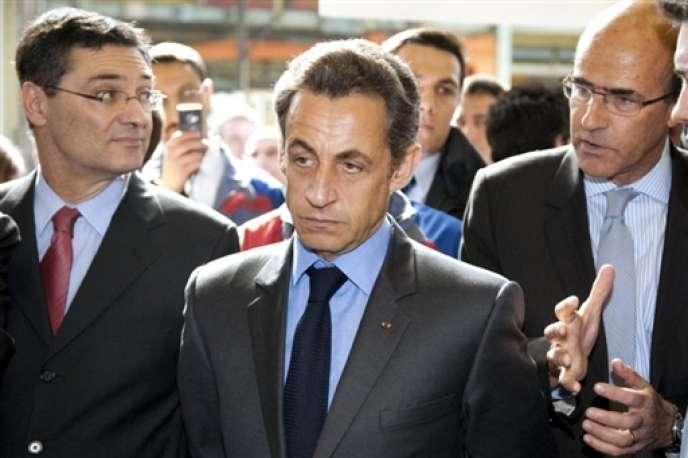 Patrick Devedjian et Nicolas Sarkozy, en mars 2009.