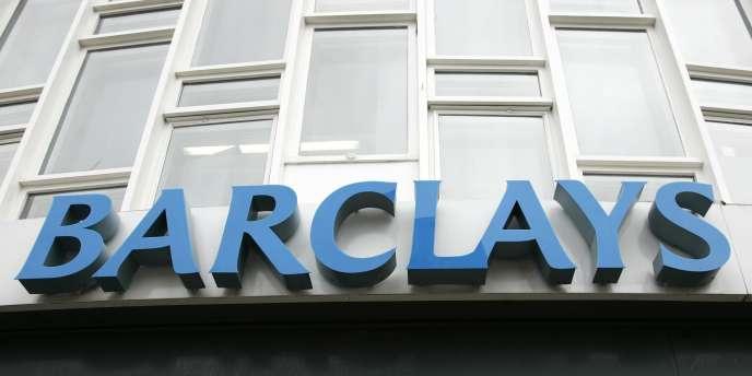 L'enseigne de la banque britannique Barclays, à Londres, en juillet 2007.