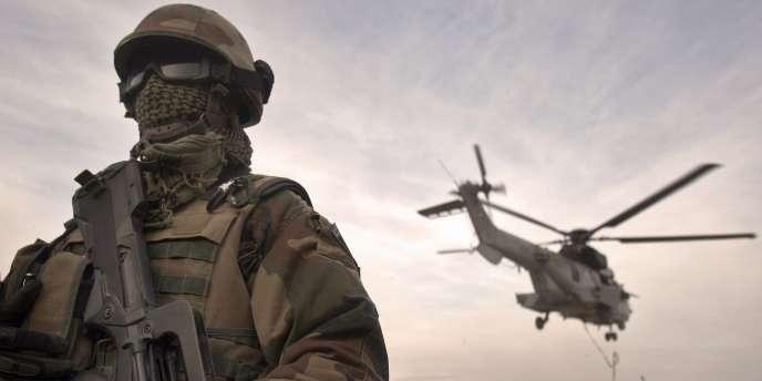 Un soldat français en Afghanistan.