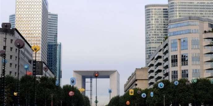 Vue du quartier de La Défense, le 19 octobre 2009.