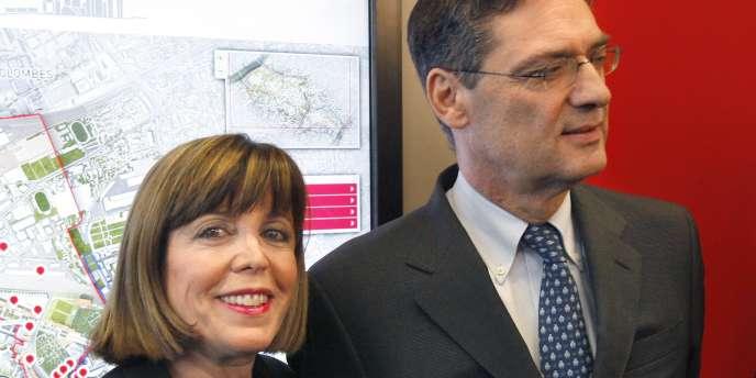 Joëlle Ceccaldi-Raynaud, députée et maire UMP de Puteaux, qui participe au financement de Defacto, aux côtés de Patrick Devedjian, président de l'établissement public.