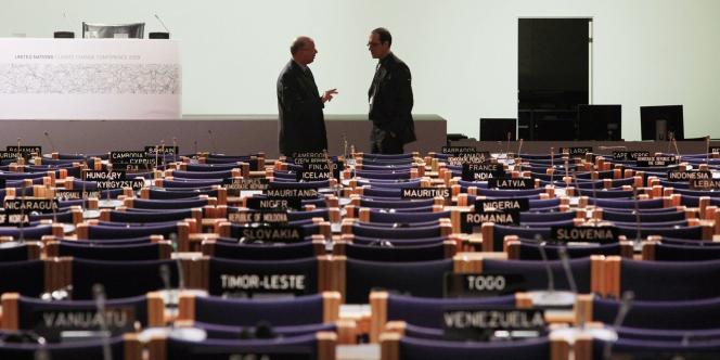 Photo prise lors du sommet de Copenhague, en décembre 2009.