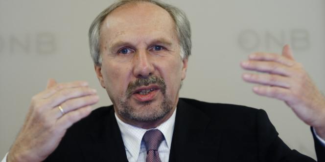 Ewald Nowotny, gouverneur de la Banque centrale autrichienne.