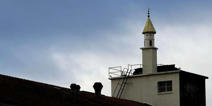 Un minaret à Bussigny, près de Lausanne.